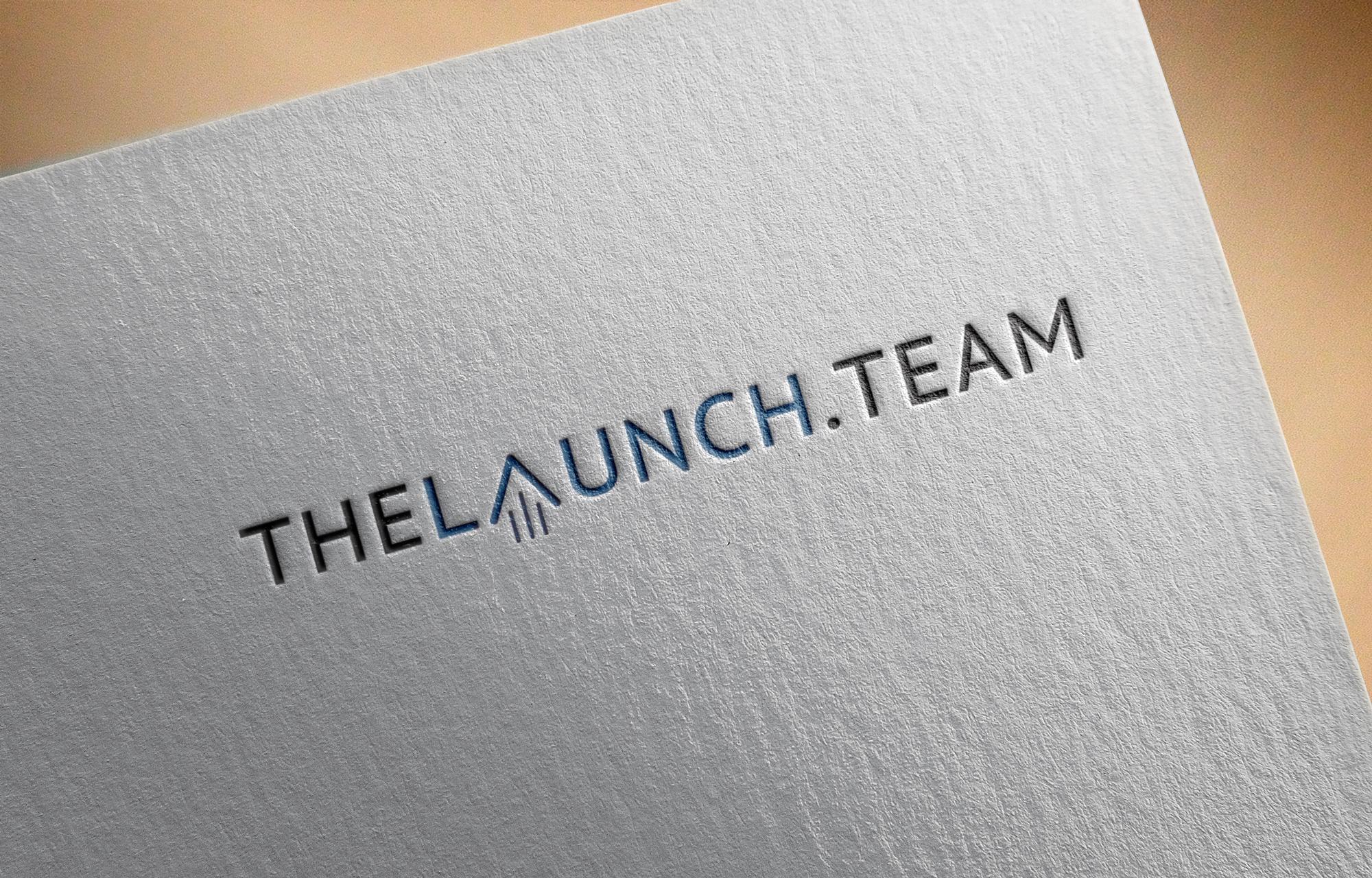 Logo til The Launch Team hvor A'et ligner, at det letter.