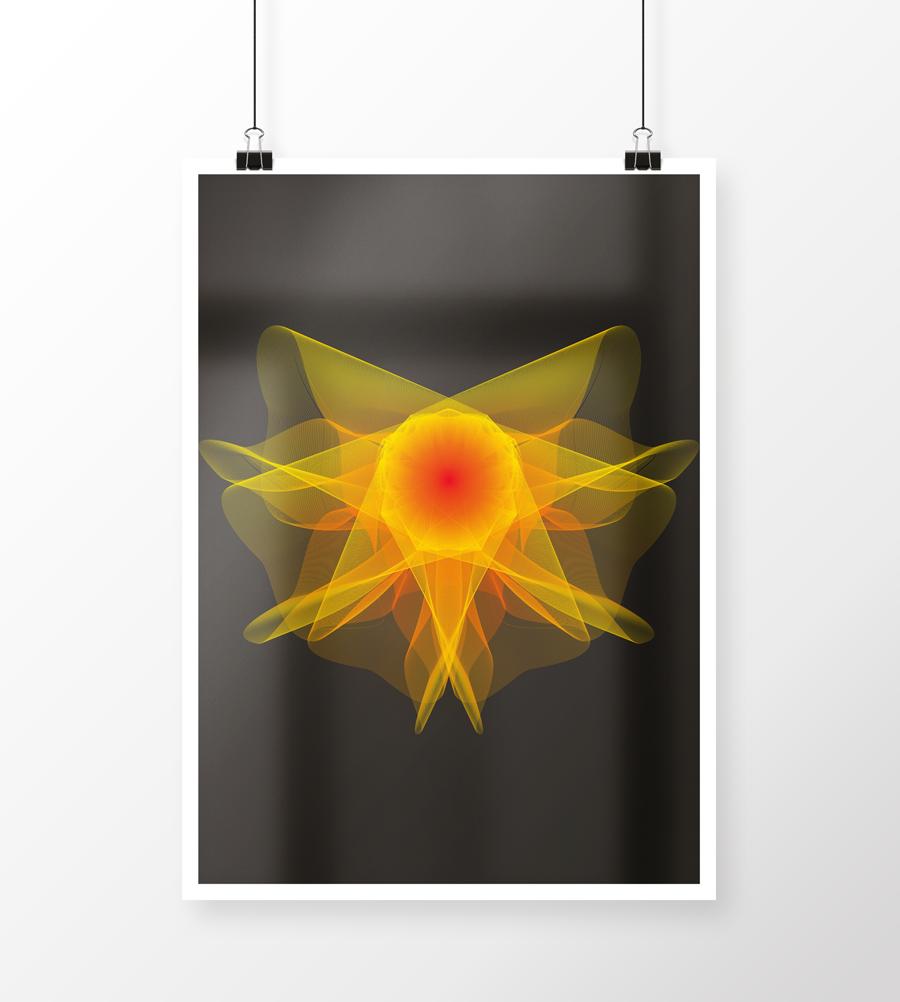 Plakatdesign lavet for sjov med eet abstrakt havdyr