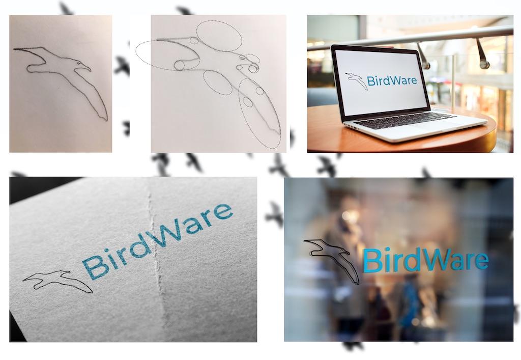 Logoproces på BirdWare logoet