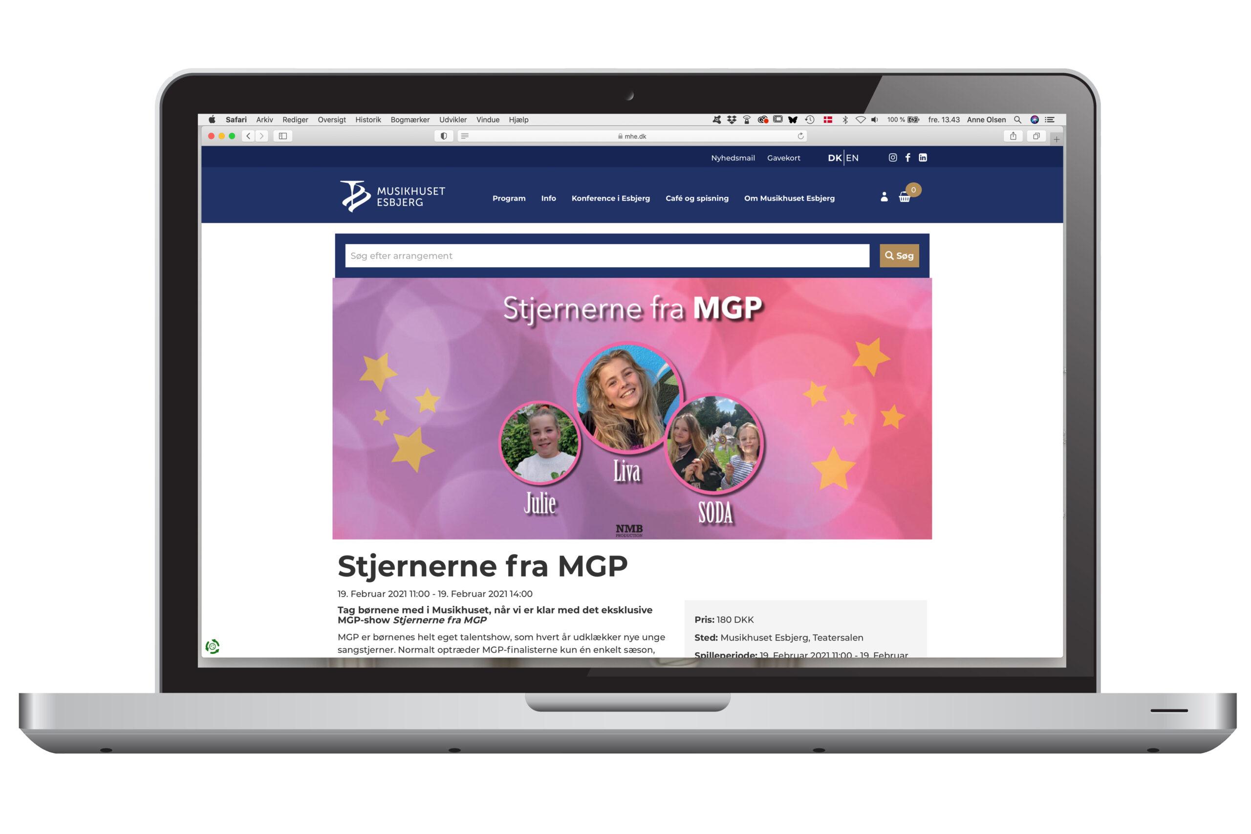 Annonce cover med 3 piger fra MGP på lyserød baggrund med stjerner og bobler